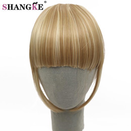 Discount hair bangs extensions - SHANGKE Fringe Clip In Hair Bangs Hairpiece Clip In Hair Extensions Heat Resistant Synthetic Fake Bangs Piece 8 Colors