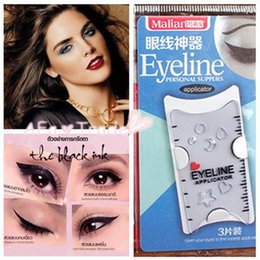 Smokey Eye Stencil UK - 3pcs Cat Eye & Smokey Eye Makeup Eyeliner Models Template Top