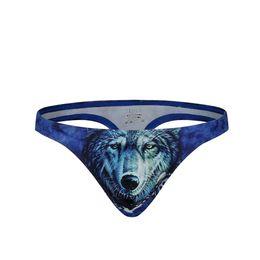 e5f970b5ce Sexy Men's Bikini Underwear Briefs Thongs 3D Print Man Thongs and G-Strings  Low-Rise Slip U Convex Gay Men Underpants Quick Dry