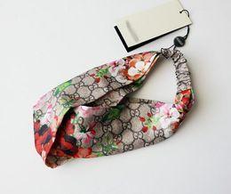 Designer 100% seta croce infinito fascia moda lusso marchio elastico fasce per capelli per le donne ragazza retrò ornamenti floreali uccelli turbante headwraps