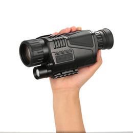 Digital Cameras Vision Australia - 5x40 digital infrared night vision monocular goggle no thermal with video camera Night vision monocular weapon sight Digital Telescope