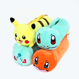 Chinese  New Style Cartoon Anime Pet Pikachu Doll Pencil Case Storage Bags Creative Pusheen Children Student Plush Toys Stationery Box manufacturers