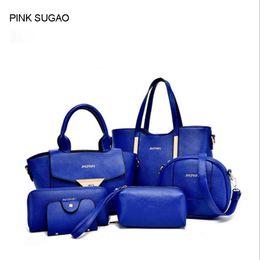 Discount chain style designer clutch - Pink sugao handbag set new style designer handbags crossbody bag tote shoulder clutch purse messenger bag set with walle