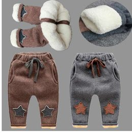 Discount leggings children warm velvet - BibiCola New Baby Pants Thick Winter Baby Child Trousers Star Pants Children Leggings Kids Thick Velvet Pants Boys Warm