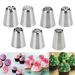 $enCountryForm.capitalKeyWord NZ - 7pcs Steel Cake Icing Piping Decorating Nozzles Tips Baking Tool Fondant Cake Decorating Tip making Baking Tools