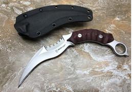 Опт Высокое качество Злой дракон Коготь Карамбит EDC открытый кемпинг самообороны тактические боевые Рождественские ножи 1 шт. Бесплатная доставка