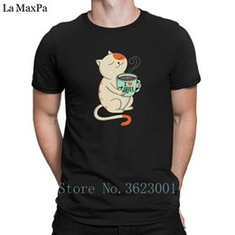 3de36ed63 Coffee T Shirts Canada - Character Interesting Men's T Shirt Cat And Coffee  T-Shirt