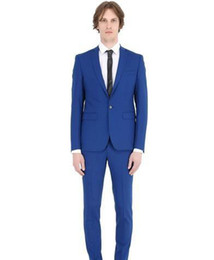 Ivory Linen Suit UK - New design Custom made Two Pieces wedding suits Groom Tuxedos Formal suits Handsome One Button Business wears Groomsman suits (Jacket+Pants)