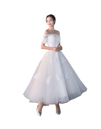 24w Plus Size Dresses For Wedding UK - Vintage Off the shoulder Ankle Length A line Princess Wedding Dresses Cheap Plus size With Sleeves For Women Applique Lace Corset Back new
