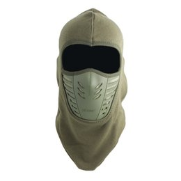 Men Cotton Winter Face Mask NZ - Adisputent Thickening Fleece Caps Outdoor Riding Masks Winter Men And Women Solid Color Bib Face Warmth Windproof Hat Headgear