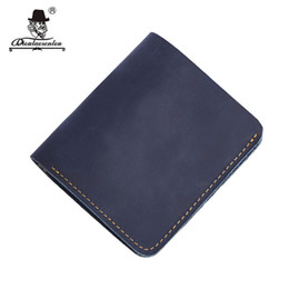 mens faux leather shorts UK - DIOULAORENTOU Slim Genuine Leather Man Wallet RFID Wallets Credit Card Holder Mini Male Purse Walet Mens Short Wallet for Women