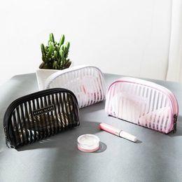 $enCountryForm.capitalKeyWord NZ - Casual Travel Wash Cosmetic Bag Wome Transparent Mesh Zipper Make Up Organizer Storage Makeup Case Pouch Toiletry Beauty Kit Box