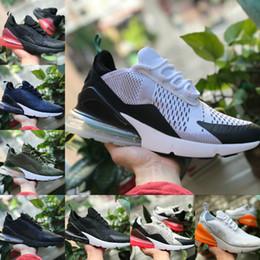 2018 nike air max 270 vapormax airmax off white 270 flyknit shoes barato 270S Negro Blanco Rojo Azul Cojín Ejecutar Mujeres Hombres más fuera de entrenamiento de baloncesto Zapatillas de deporte