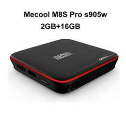 netflix android 2019 - 20pcs Original MECOOL M8S PRO 2GB 16GB Android 7.1 TV BOX Amlogic S905W Streaming Box Support 4K H.265 Wifi OTA Update c