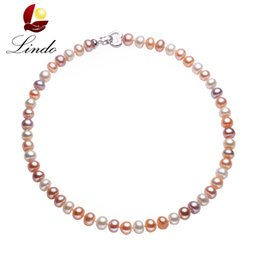 9mm Pearl Size Australia - 43 45 50 60 80cm Long Necklace For Women Classic 8-9MM Big Size Natural Pearl Choker Necklace multi color pearl necklace S18101105