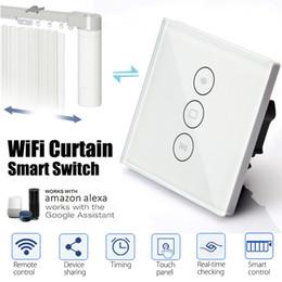 $enCountryForm.capitalKeyWord NZ - EU Standard WiFi Smart Curtain Wall Switch App Wall Socket Switch Touchs Panels Work With Alexa Google Home 10A 100-240V