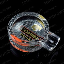 tomato gifts UK - Stylish and exquisite design novelty high quality 1 piece TOMATO glass cigar ashtray W   gift box COHIBA 9 style ashtray