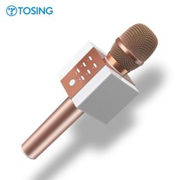 Chinese  Original Brand TOSING Wireless Bluetooth Magic Karaoke Microphone With 2 Speaker MIC Black Carrying Case Active noise reduction manufacturers