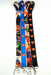 neck straps for id cards Canada - superman Phone Straps Lanyard Neck rope slings with Clip strap Lanyards for Key mobile iD Card Keychain phone strap