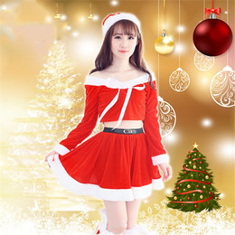 47d27ca970c70 Sexy Sleeve Santa Claus Uniform Cosplay Adults Ladies Party Party Girls  Outfit Fancy Dresses Christmas Costume