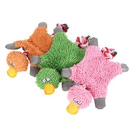 $enCountryForm.capitalKeyWord UK - Lovely 32*19cm Pet Supply Cute Papa Duck Plush Husky Dog Toy with Rope Puppy Chew Toys Animal Shape Interactive Toys Home Pet Supplier