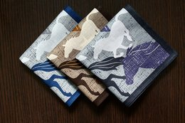 $enCountryForm.capitalKeyWord Australia - Japan Cotton Handkerchiefs Horses Run Pocket Hankies 53 *53cm Thin Pocket Square Mens Handkerchief