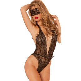 exotic sex apparel 2019 - New Deep v-gel breast teddy sex Exotic apparel sexy costumes tight exposed chest langerie lingerie maid sexy underwear