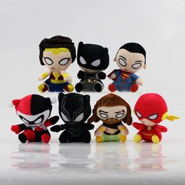 "$enCountryForm.capitalKeyWord NZ - Hot Sale 7 Style 4.5"" 12cm The Avengers Superman Black Panther Wonder Woman Plush Doll Stuffed Toy For Gifts"