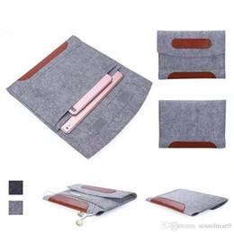 İPad Mini için 1 2 3 4 Evrensel Yeni Moda Yumuşak Keçe Kollu Kapak Taşıma çantası Koruyucu Çanta 2 Bölmeler OPP TORBA