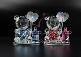 Crystals Souvenir Australia - Crystal Bear NippleBaptism Baby Shower Souvenirs Party Christening Giveaway Gift Wedding Favors and Gifts For Guest