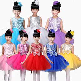 kids salsa dancewear NZ - 2018 Style Girls Latin Dance Dress Ballroom Stage Wear Sequins Tango Dress Kids Salsa Performance Competition Dancewear Cotumes