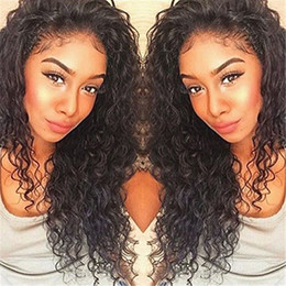 Deep Curly Indian Lace Wig Australia - Pre Plucked Full Lace Human Hair Wigs Natural Hairline Virgin Indian Loose Deep Curly Hair Lace Front Wigs