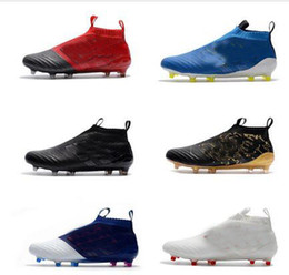 cea8bd771df 2017 KITH x ACE 17 + PureControl FG Dragon original soccer cleats ace 17.1 mens  soccer shoes high ankle authentic football boots golden