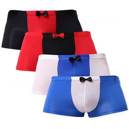 f476eb62fd74 Mens white underwear trunks online shopping - Mens Sexy Briefs Silk  Underwear Smooth Trunks Bikini Male