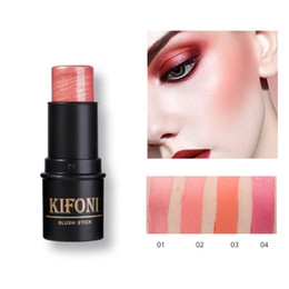 Wholesale 2018 KIFONI Brand color baked blush Makeup blush stick Palette Face Cheek cream Blusher sticker Long Lasting Nude Natural Cosmetics