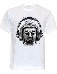 Music Man T Shirt Australia - T Shirt Printing Best Friend Sodatees Dj Buddha Headphones Music Men's T-Shirt Goa Club O-Neck Short-Sleeve Shirts For Men