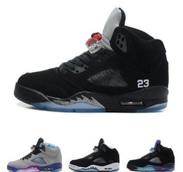 watch cb8bd 7f8c8 New Classic 5 5s V OG Black Metallic Gold White Cement Mens Basketball Shoes  blue Suede Olympic metallic Fire Red Sports Sneakers Shoes