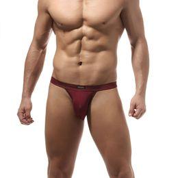 Ingrosso Intimo uomo AIIOU Slip Sacchetto Gay Pene Sissy High Fork Slip a vita bassa Ghiaccio Traspirante U grande Underwear sexy convesso