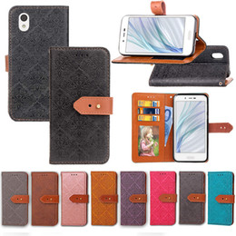 Card Euro NZ - For Sharp Shv40 Case Cover PU Leather Noble Euro Fresco Design with Wallet Card Holder Hand Strap