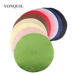 Toptan YENI multicolours.35cm Yuvarlak PP saman baz Fascinator sinamay fascinator çay şapka için Disk Fascinator Bankası ÜCRETSIZ NAKLIYE NB36