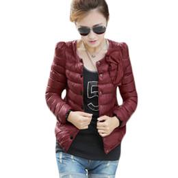 $enCountryForm.capitalKeyWord UK - Light Short Design Women Winter Jacekt Princess Wear Girls Party Jacket Round Neck Pleated Coat Outwear with Cute Bow Tie XH529