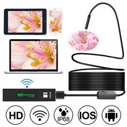 Vente en gros Endoscope sans fil, 2 mégapixels HD1200P Wifi USB Borescope, IP68 étanche inspection Snake Camera pour Android, iPhone, PC, 16,4 pieds