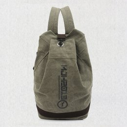 China Classic Canvas Sport Bag Men Women Large Capacity Gym Bag Outdoor Camp Backpack Football Basketball Student School Bag supplier large camping backpacks suppliers