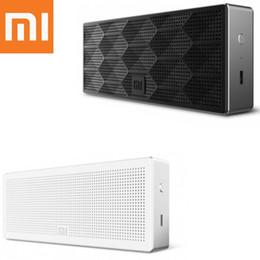 xiaomi mini square box bluetooth speaker 2019 - Original Xiaomi Bluetooth Speaker Square Box Bluetooth 4.0 MI Wireless Loudspeaker Mini Portable for Mobile Phone Metal