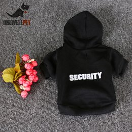 $enCountryForm.capitalKeyWord NZ - Onewellpet Brand High Quality Black Cotton Hoodie With Hat And English Word Of Security For Teddy And Other Pet Dogs