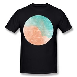 $enCountryForm.capitalKeyWord Canada - New Design Men's Pure cotton Summer Sea and Sand Water Color Tee-Shirts Men's Round Neck Orange Short Sleeve T Shirts Big Size Printed On Te