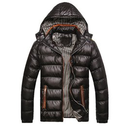 China Hooded Men's Winter Jackets Casual Parkas Men Coats Windbreaker Solid Quality Thick Coats Slim Fit Fashion Brand Clothing supplier orange parkas suppliers
