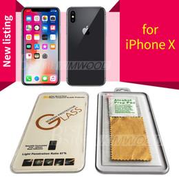 Venta al por mayor de Para NUEVO iPhone XR XS Máx. Iphone X / 10 8 7 6 S Más Calidad Protector de pantalla de película de vidrio templado de calidad superior 9H 2.5D Para Galaxy J3 J7 Prime WithPackage