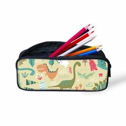 09c031c3634f0 Kinder Schultasche Federmäppchen Für Studenten Dinosaurier Drachen Druck  Design Schulbedarf Kinder Mini tasche Frauen Kosmetische Box