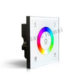 Discount dmx512 wireless controller - LTECH DX4 2.4G DMX512 Wall-mounted Touch Panel Controller Full Color RGBW LED wireless Dimmer for 5050 3528 LED strip la